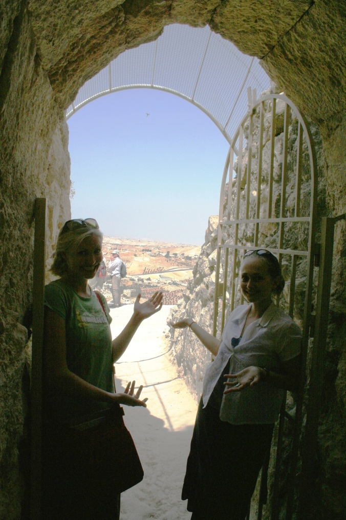 Andrea and I on Herodian: Herod's summer palace (2006)